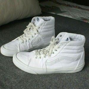 Vans SK8-Hi Hightop Sneakers White, Mens 11